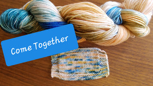 Come Together, Beatles Series, Hand dyed yarn, Fingering weight, sock weight, sport weight, DK weight, Worsted weight, Bulky