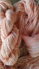 Load image into Gallery viewer, Peaches,  Hand dyed yarn, Fingering weight, sock weight, sport weight, DK weight, Worsted weight, Bulky