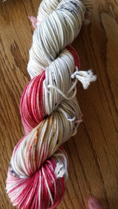 Three Little Birds,  Hand dyed yarn, Fingering weight, sock weight, sport weight, DK weight, Worsted weight, Bulky