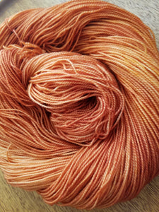 Clay,  Hand dyed yarn, Fingering weight, sock weight, sport weight, DK weight, Worsted weight, Bulky