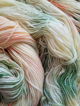 Load image into Gallery viewer, Summer Garden, Hand dyed yarn, Fingering weight, sock weight, sport weight, DK weight
