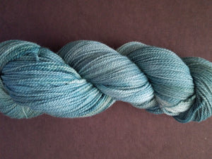 Teal, SPECIAL LISTING, Hand dyed yarn, Sport weight yarn,100 % Merino