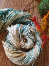 Load image into Gallery viewer, Light Teal variegated,  Hand dyed yarn,  DK weight