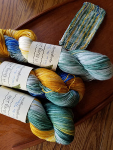 Fall in the Mountains, Hand dyed yarn,Fingering Weight, Sock Weight, Sport Weight,DK weight, Worsted Weight, Bulky