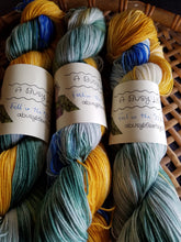 Load image into Gallery viewer, Fall in the Mountains, Hand dyed yarn,Fingering Weight, Sock Weight, Sport Weight,DK weight, Worsted Weight, Bulky