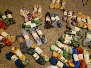 Mystery  sock set, hand dyed sock set, DK Weight yarn