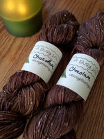 Chocolate, Hand dyed yarn, Fingering weight, sock weight, sport weight, DK weight, Worsted weight, Bulky Weight