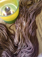 Load image into Gallery viewer, Chocolate, now on TWEED, 85/15 Superwash Merino/NEP hand dyed  fingering weight, sock yarn
