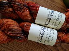Load image into Gallery viewer, Mahogany, now on TWEED, 85/15 Superwash Merino/NEP hand dyed  fingering weight, sock yarn
