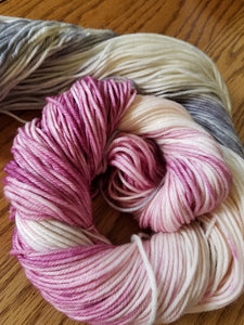Winter Solstice, Hand dyed yarn, Fingering weight, sock weight, sport weight, DK weight, Worsted weight, Bulky