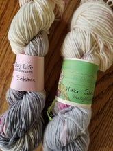 Load image into Gallery viewer, Winter Solstice, Hand dyed yarn, Fingering weight, sock weight, sport weight, DK weight, Worsted weight, Bulky