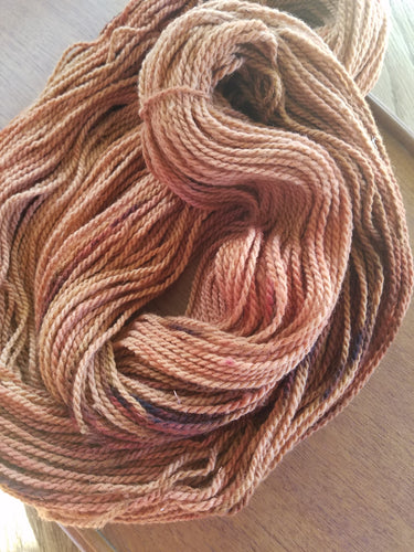 Rusty Old Tractor, SPECIAL LISTING, Hand dyed yarn, Worsted weight yarn,100 % Merino, Woolies