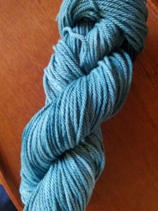 Teal, SPECIAL LISTING, Hand dyed yarn, Worsted weight yarn,100 % Merino, Woolies