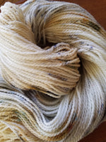 Roasted Marshmallow, SPECIAL LISTING, Hand dyed yarn, DK  weight yarn,100 % Merino, Woolies