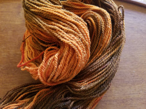 Mahogany, SPECIAL LISTING, Hand dyed yarn, DK  weight yarn,100 % Merino, Woolies