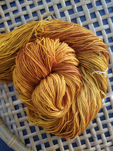 Amber, Hand dyed yarn, Fingering weight, sock weight, sport weight, DK weight, Worsted weight, Bulky Weight