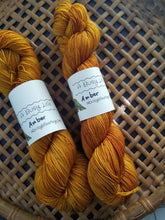 Load image into Gallery viewer, Amber, Hand dyed yarn, Fingering weight, sock weight, sport weight, DK weight, Worsted weight, Bulky Weight