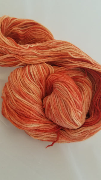 Lavender overdyed with  Madder, Naturally Dyed, hand dyed yarn,100% Non-Superwash Merino, Sport weight