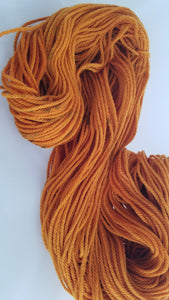 Amber, SPECIAL LISTING, Hand dyed yarn, Worsted weight yarn,100 % Merino, Woolies