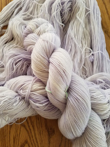Lilac,  Hand dyed yarn, Fingering weight, sock weight, sport weight, DK weight, Worsted weight, Bulky