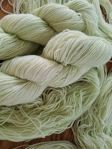 Spring Green,  Hand dyed yarn, Fingering weight, sock weight, sport weight, DK weight, Worsted weight, Bulky