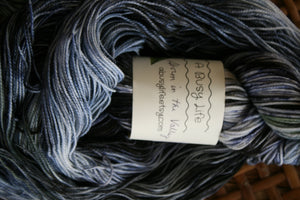 Storm in the Valley, Fingering  weight yarn, 80/20 Superwash Merino/ nylon