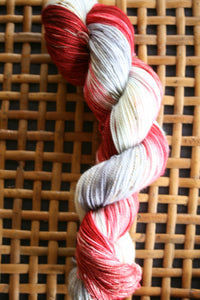 Gates of Dawn, Hand dyed yarn, Fingering weight, sock weight, 80/20 superwash merino/ nylon