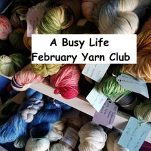 Load image into Gallery viewer, February Hand Dyed Yarn Club. Customizable monthly yarn club subscription. Yarn Club!