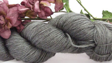 Load image into Gallery viewer, Storm Clouds,Hand dyed fingering weight yarn, sport weight, dk weight, worsted weight, bulky, singles