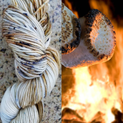 Hand dyed yarn,Fingering Weight, Sock Weight, Sport Weight,DK weight, Worsted Weight, Bulky, Roasted Marshmallows