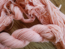 Load image into Gallery viewer, Naturally Dyed, hand dyed yarn, Madder dyed, Pink yarn, 100% Superwash Merino, DK weight