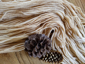Naturally Dyed, hand dyed yarn, Tea dyed, Beige yarn, 100% Non-Superwash Merino, Sport weight