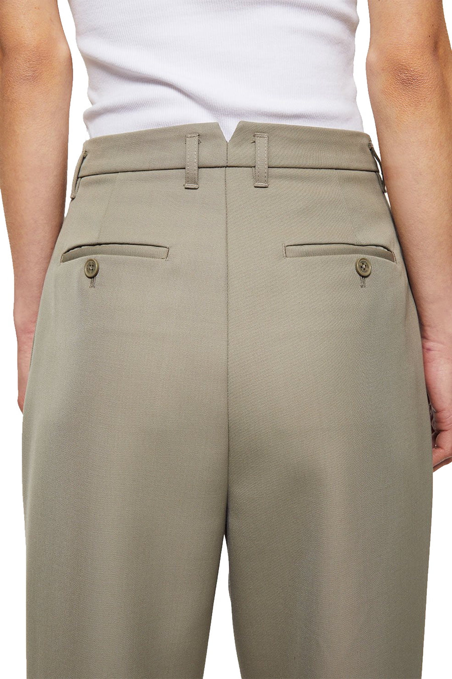 Mycah Trouser - Green Khaki