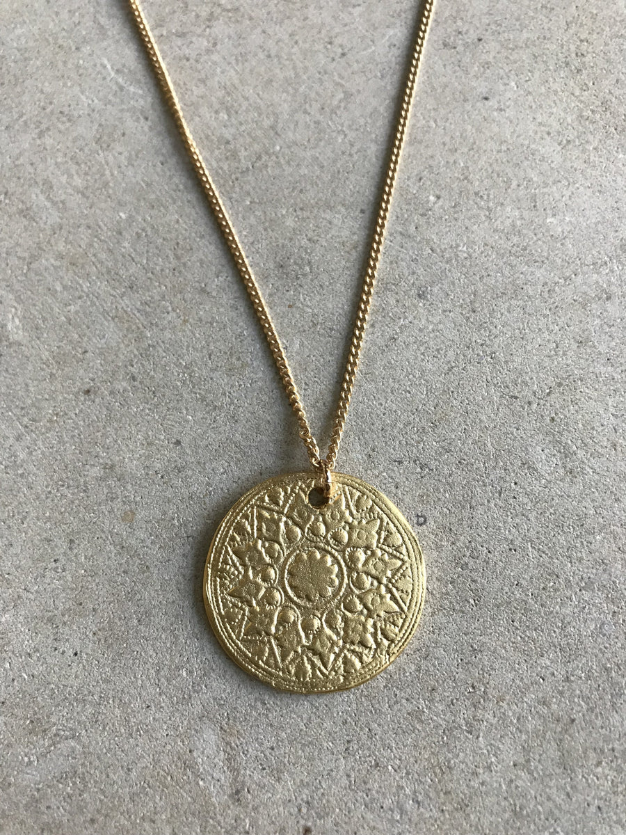 Medium Mandala Coin Necklace