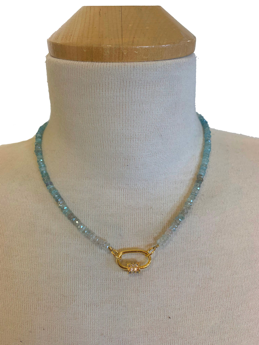 Aquamarine Lock Necklace