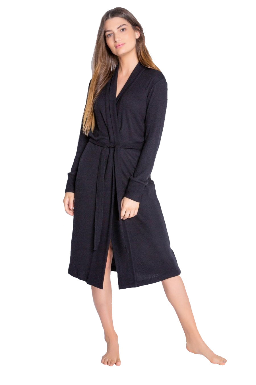 Black Texture Lounge Robe