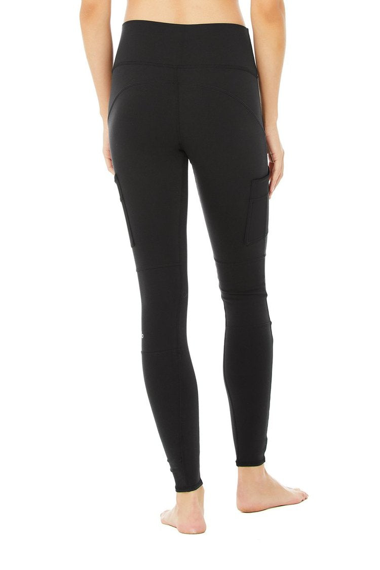 High-Waist Cargo Legging - Black