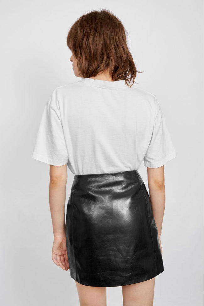 Sally Leather Skirt