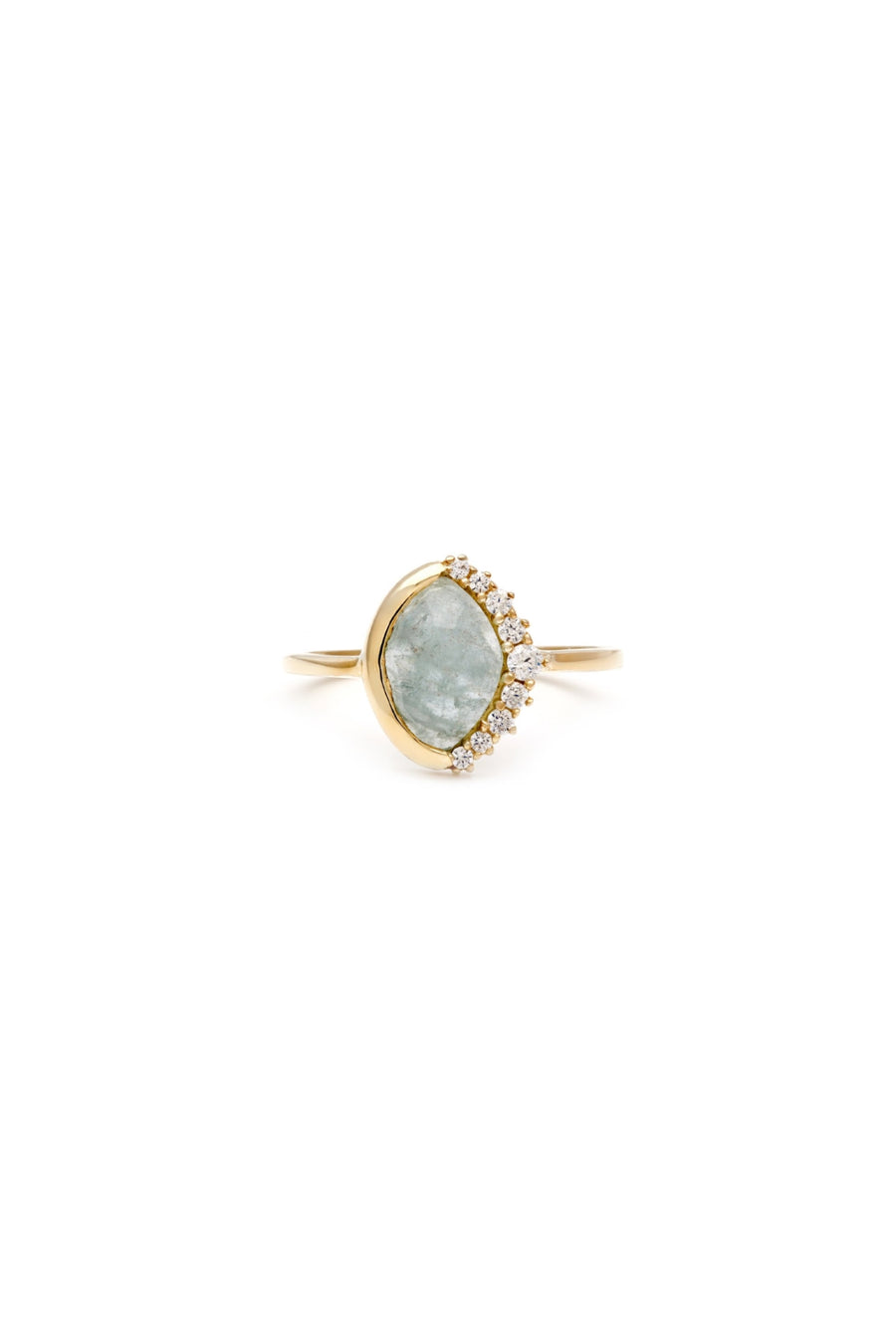 Anni Pave Crescent Ring