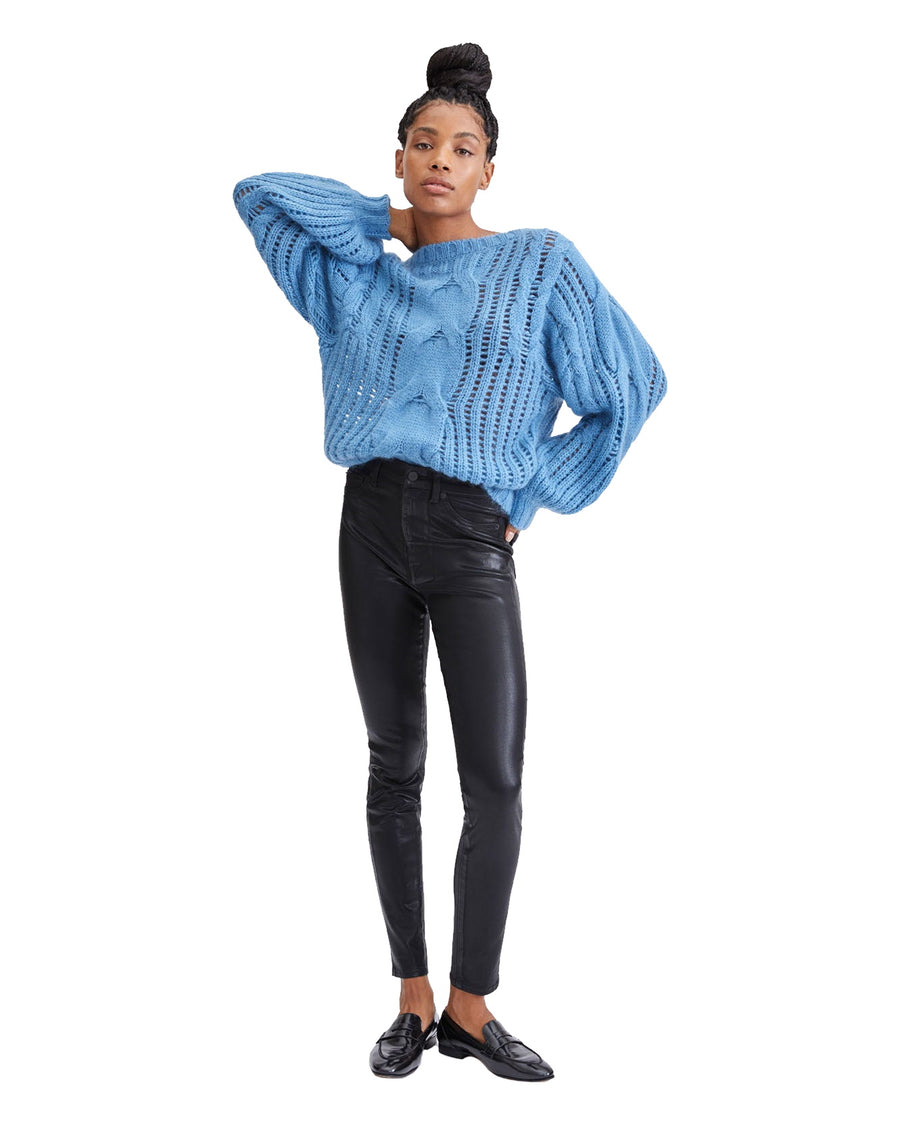 Coated B(air) High Waist Skinny with Faux Pockets