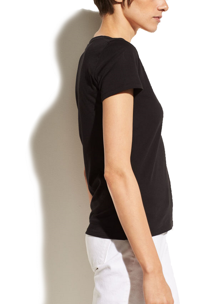 Essential Short Sleeve Cotton V-Neck