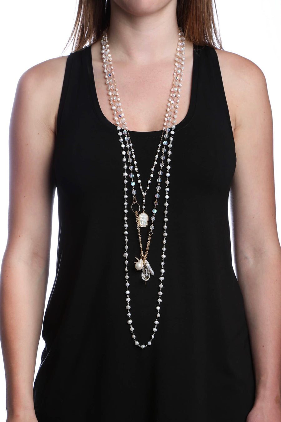 Freshwater Pearl Beaded Necklace
