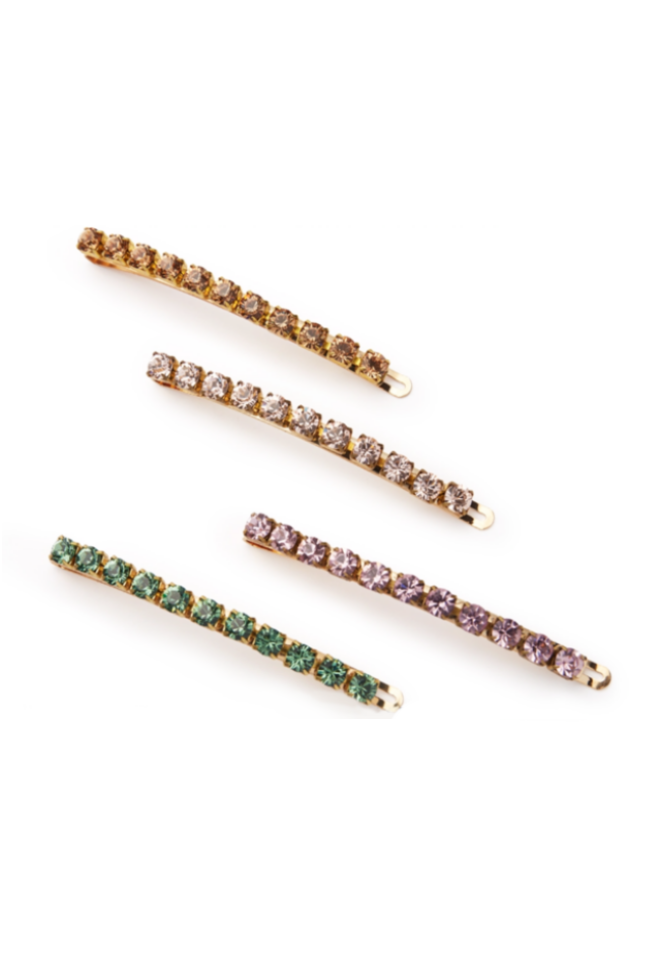 Jumbo Lush Crystal Barrette Set