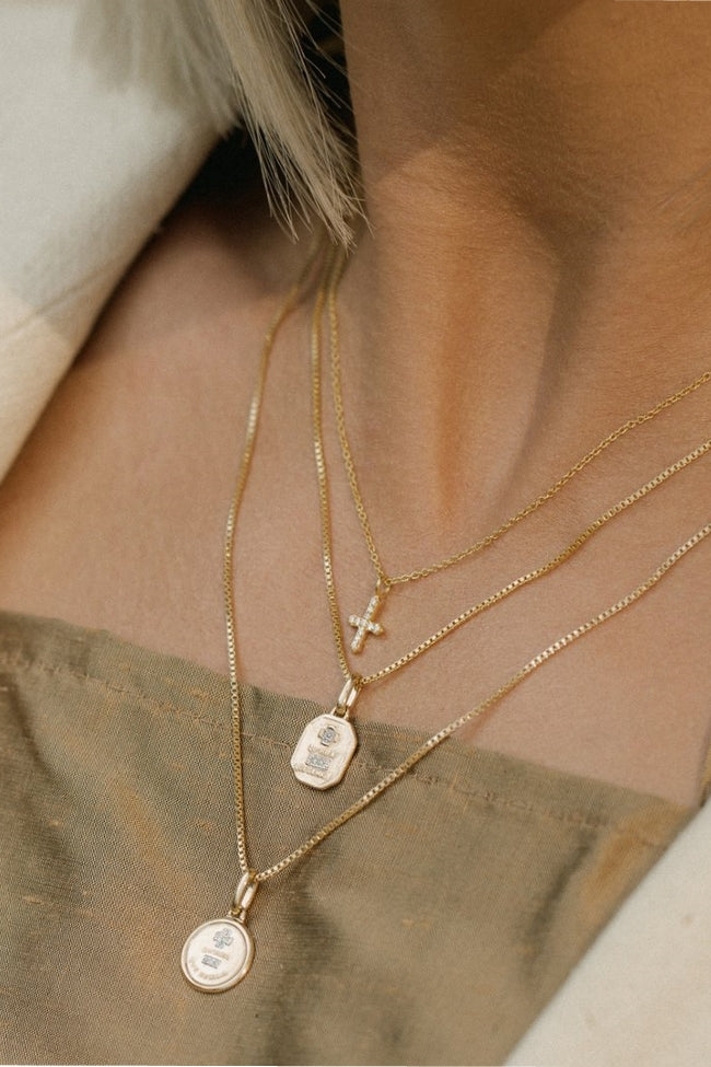 Square Love Token Necklace