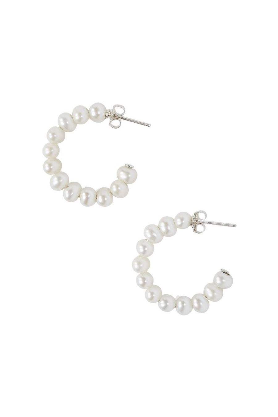Small Multi Pearl Hoops