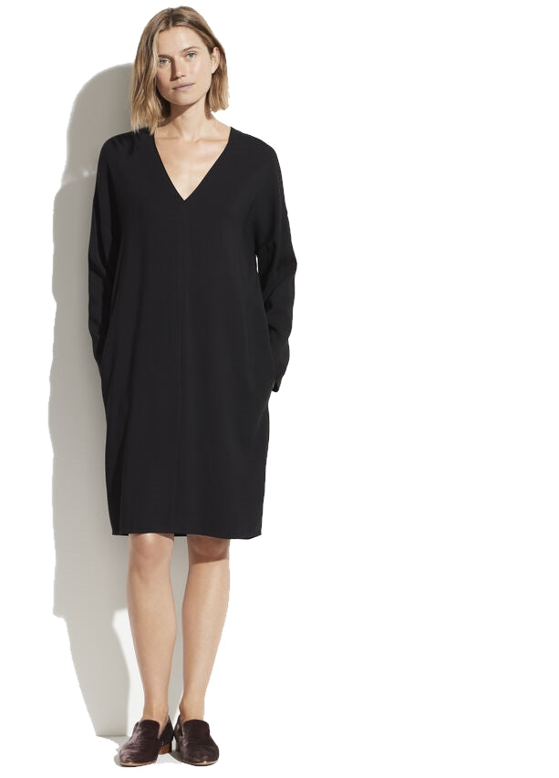 V-Neck Popover Dress