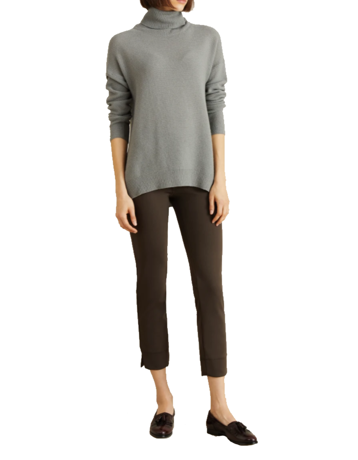 Sabrina Tech Jersey Pant - Brown