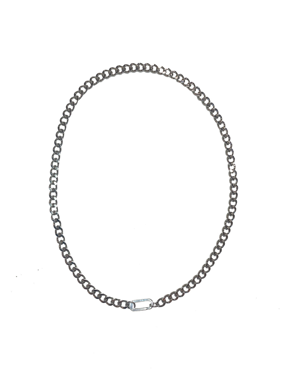 Carabiner Necklace - Silver