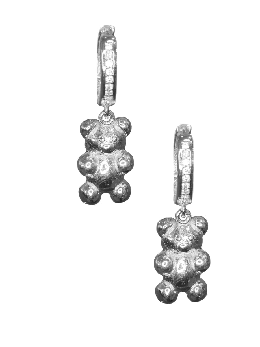 Gummy Bear Hoops/Charms - Silver
