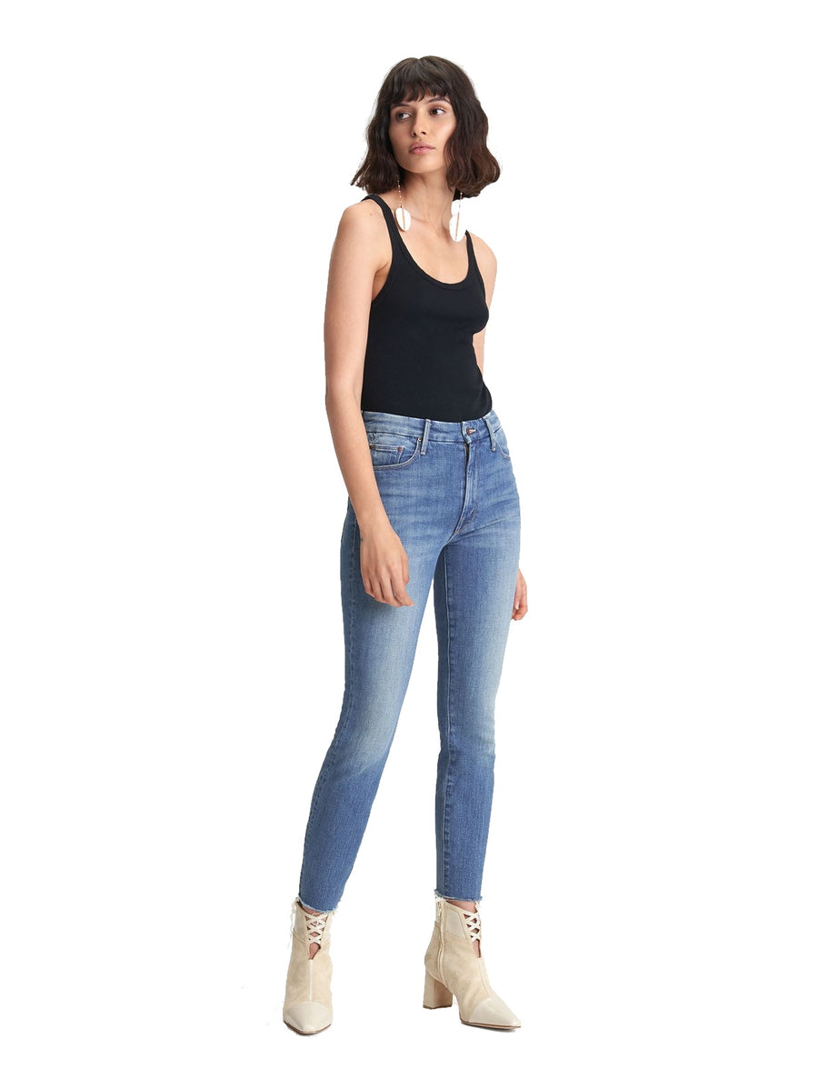 The High Waisted Looker Ankle Fray - Wander Dust
